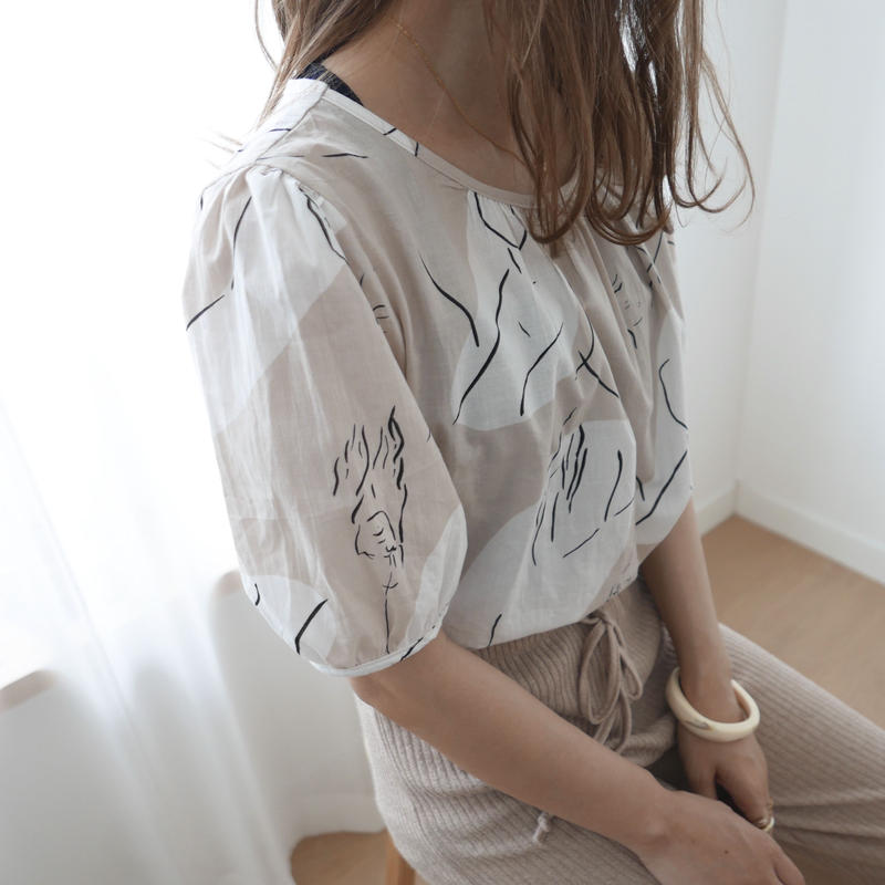 (数量限定)short modern tops