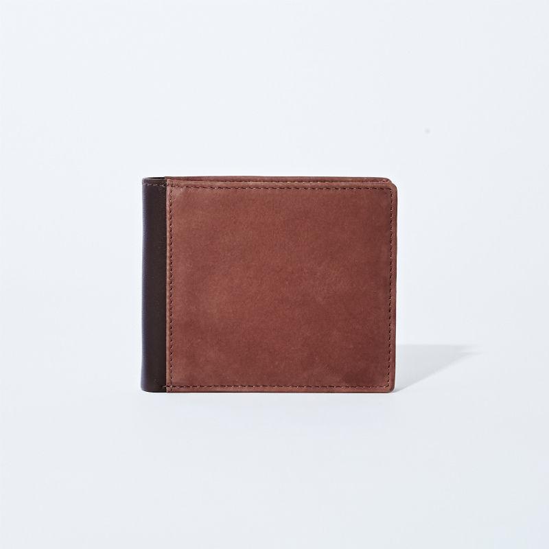 GORBE バッファローヌバック二つ折り財布