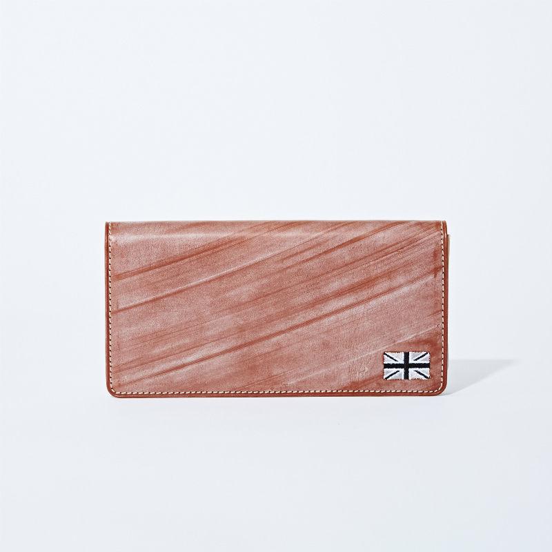 GORBE ブライドルレザー長財布(ユニオンジャック刺繍付プレミアムモデル)