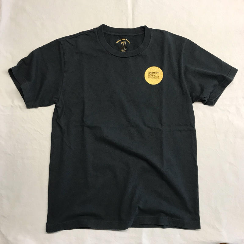 ONOMICHI DENIM T-SHIRT BLACK