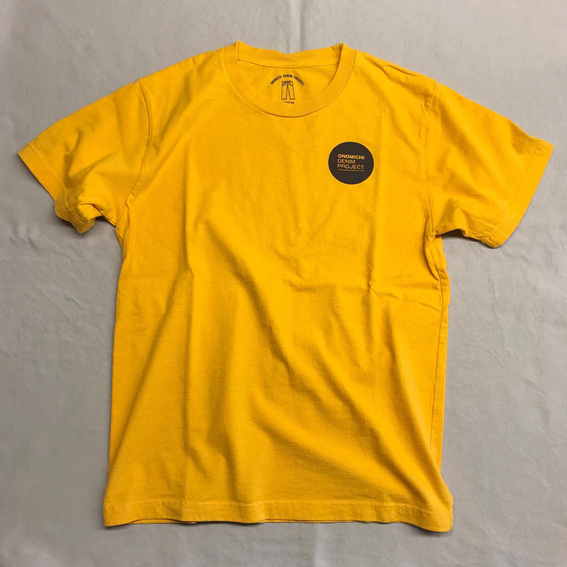 ONOMICHI DENIM T-SHIRT YELLOW