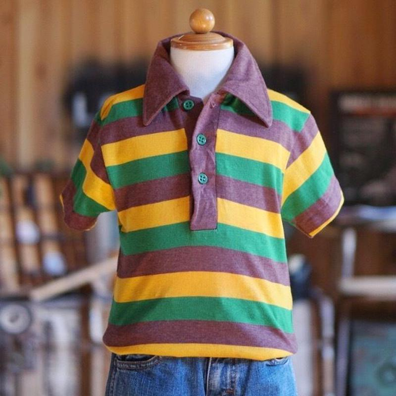 70s ヴィンテージキッズボーダーポロシャツ
