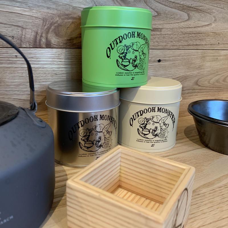 100周年オーバー記念 TEA BOY 茶缶 【ベージュ、グリーン、シルバー】アウトドアモンスター