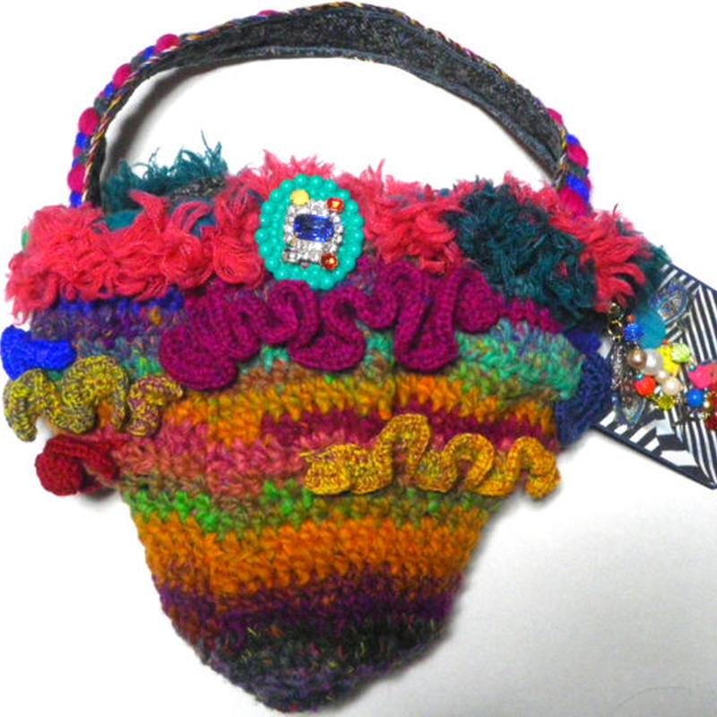 毛糸フリルBAG