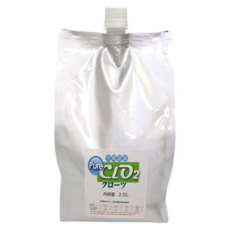 二酸化塩素ジェル クローツ スプレータイプ詰め替え用 カウチパック2L