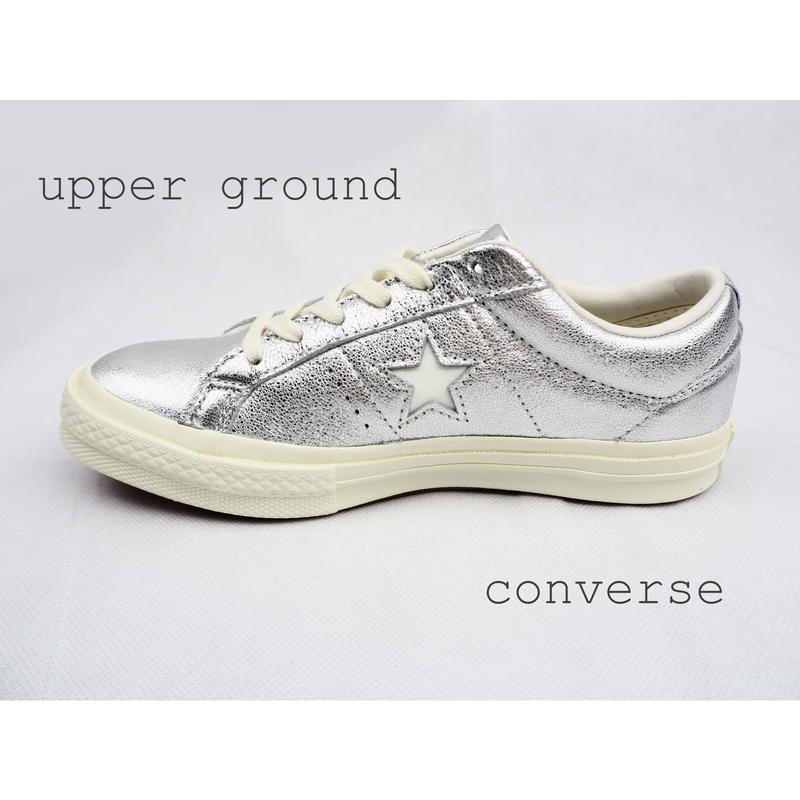 CONVERS ONE STAR METALLIC SILVER 161590C