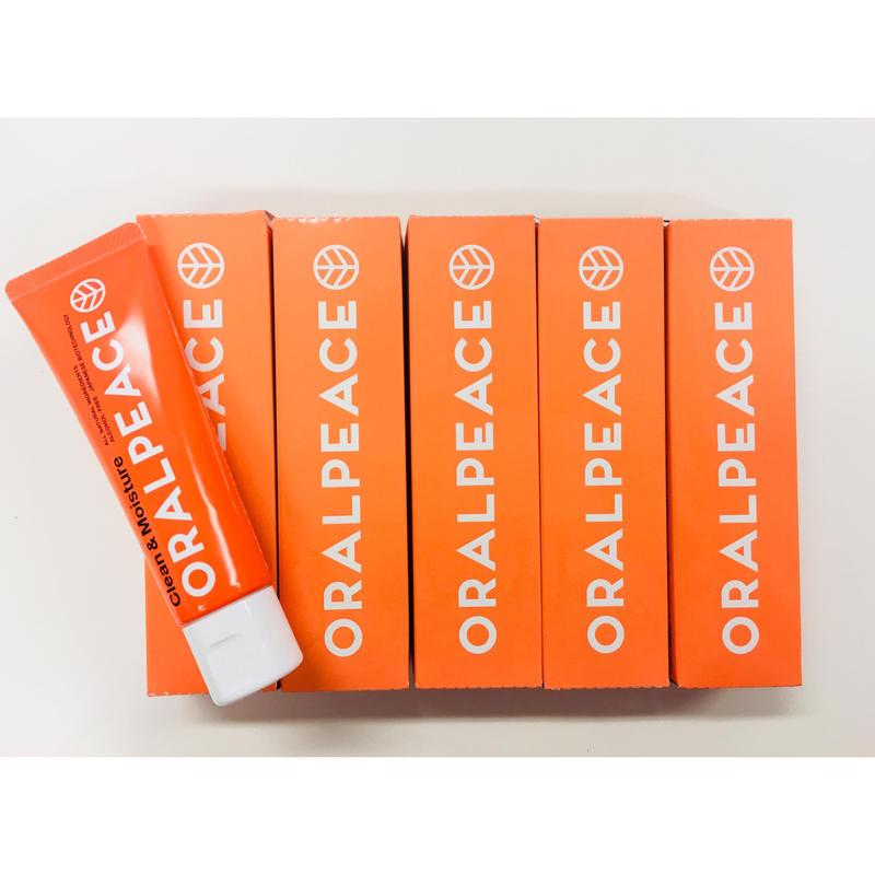 【194円お得!!まとめ買い5本セット!!】オーラルピース クリーン&モイスチュア オレンジ(ジェル)80g  まとめ買いで節約・コスト削減 保管用 施設利用者様に 共同購入 プレゼントに 欠品防止に