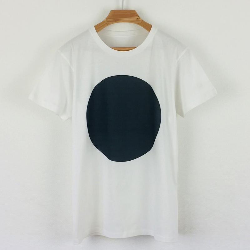 丸図Tシャツ_白/スリムシルエット