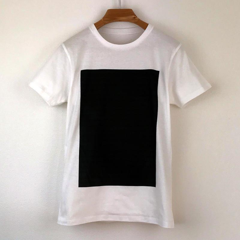 角図Tシャツ_白/スリムシルエット