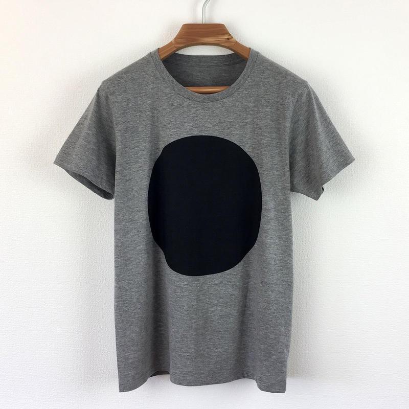 丸図Tシャツ_鼠/スリムシルエット