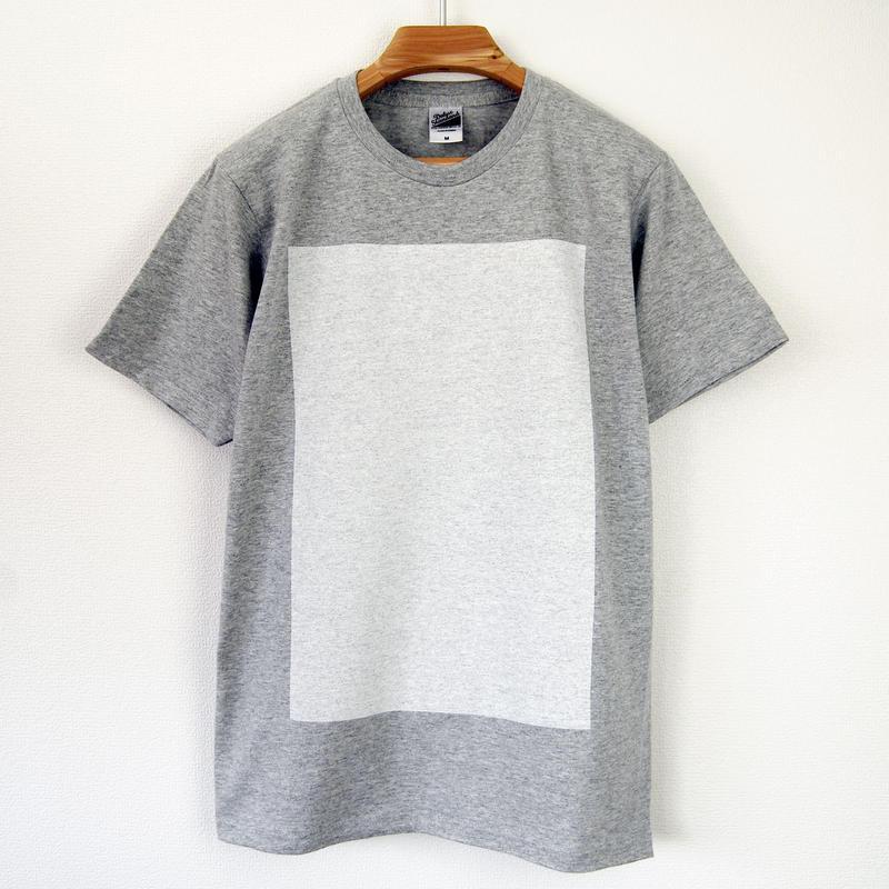 白角図Tシャツ_鼠(スタンダードシルエット /シルクスクリーンプリント)
