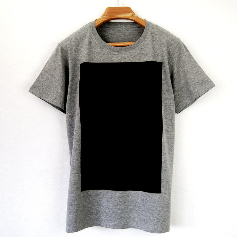 黒角図Tシャツ_鼠/スリムシルエット