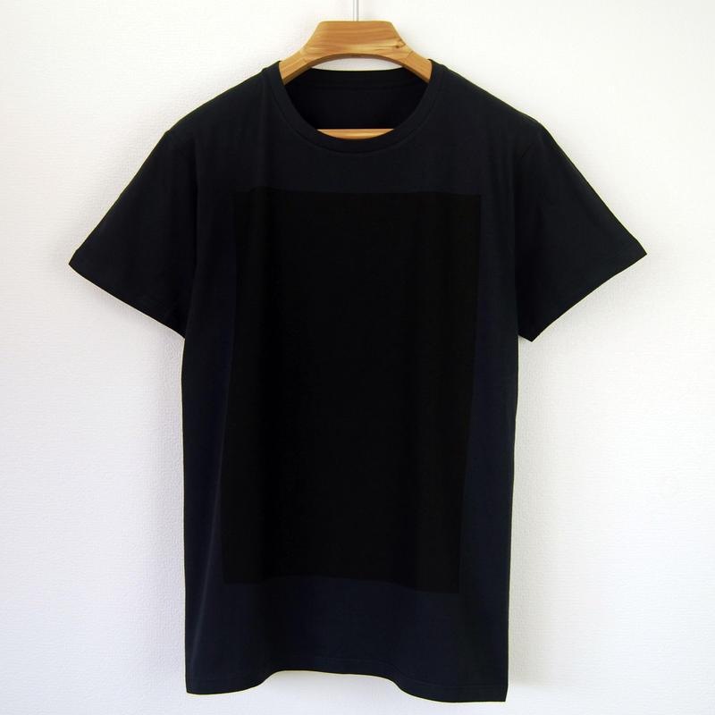 黒角図Tシャツ_濃紺/スリムシルエット