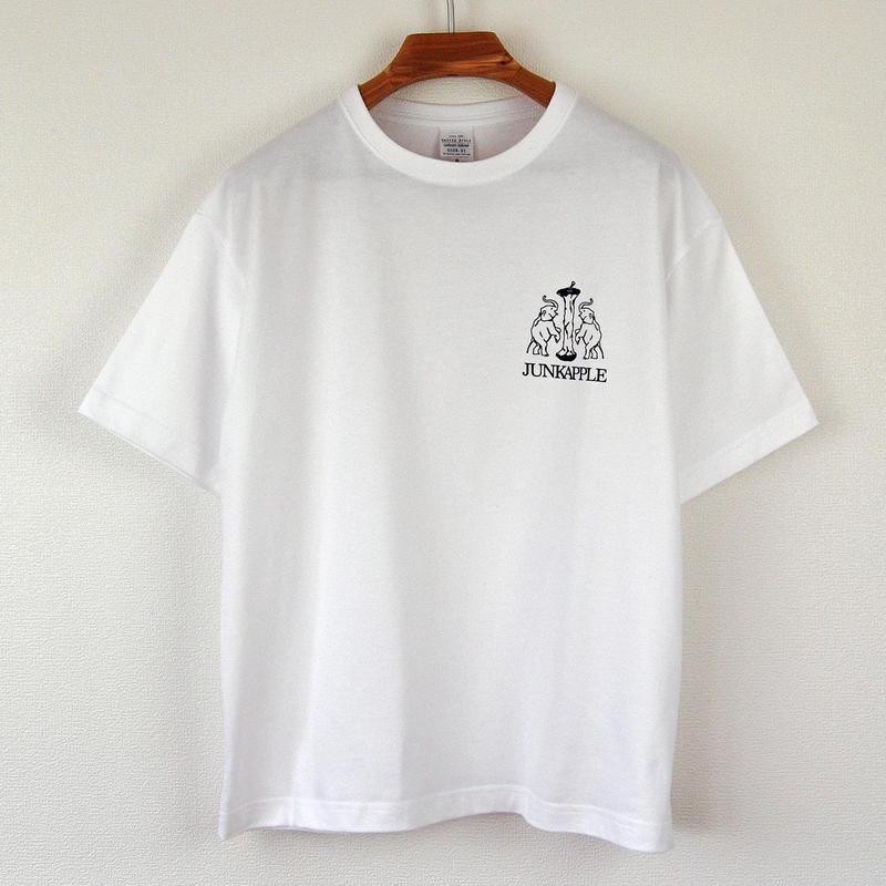 印図Tシャツ_白/ビッグシルエット