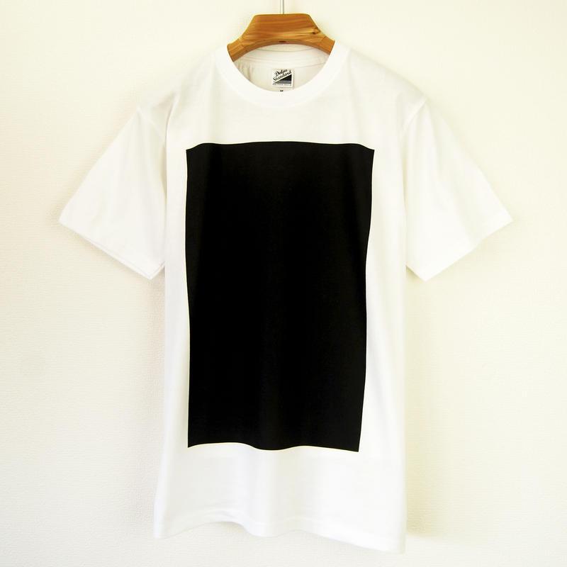 黒角図Tシャツ_白/スタンダードシルエット