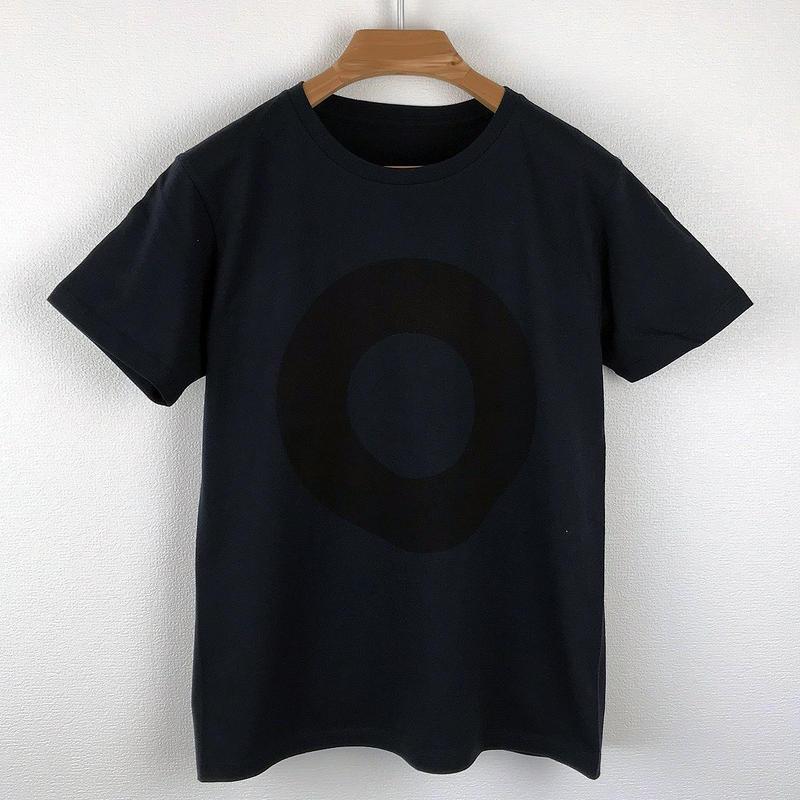 円図Tシャツ_濃紺/スリムシルエット