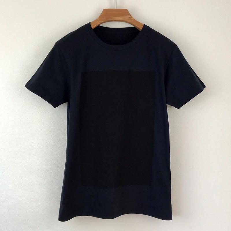 角図Tシャツ_濃紺/スリムシルエット