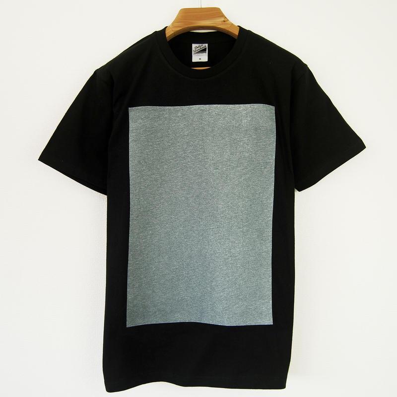 白角図Tシャツ_黒(スタンダードシルエット /シルクスクリーンプリント)