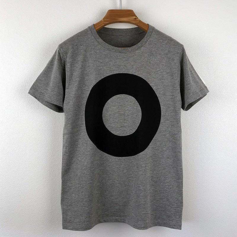 円図Tシャツ_鼠/スリムシルエット