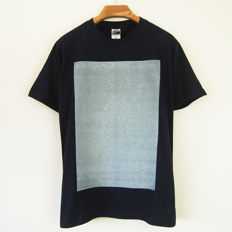 白角図Tシャツ_濃紺(スタンダードシルエット /シルクスクリーンプリント)