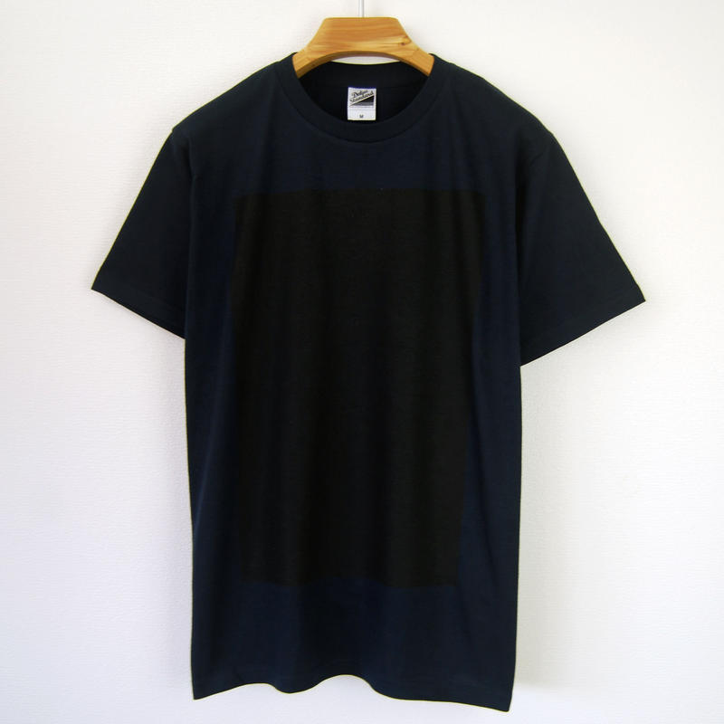 黒角図Tシャツ_濃紺/スタンダードシルエット