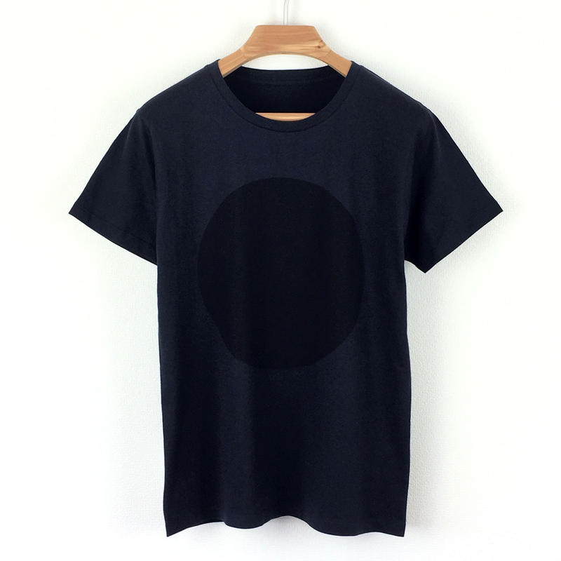 丸図Tシャツ_濃紺/スリムシルエット