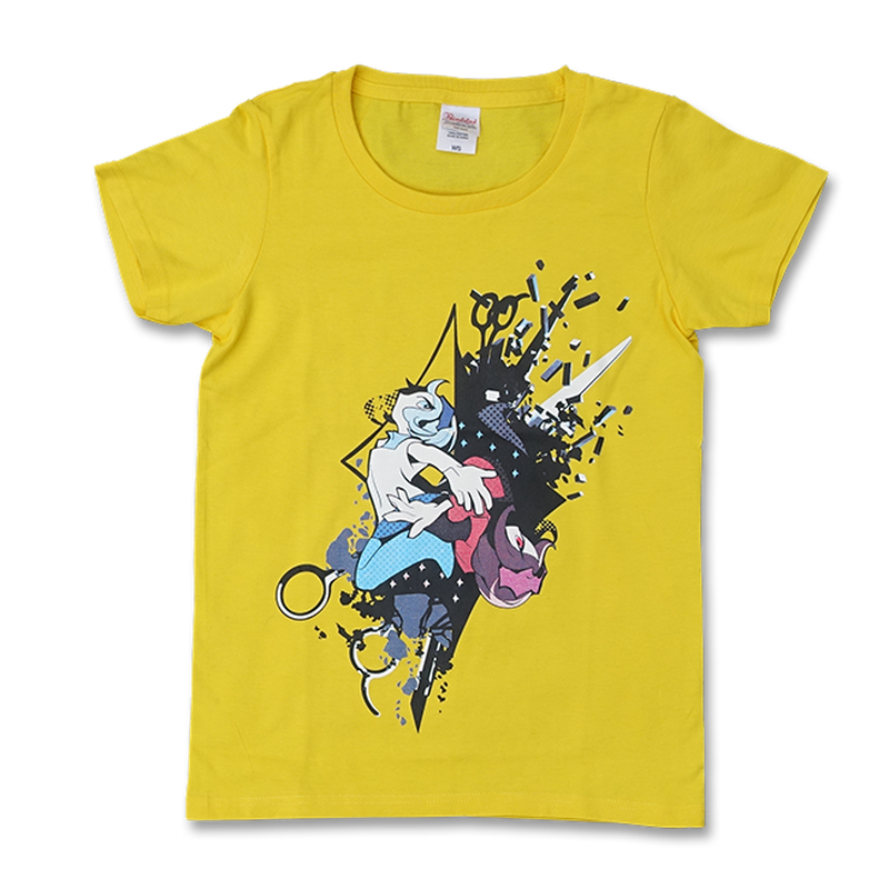 "DECO*27 ""MOSAIC ROLL"" WOMEN'S T-SHIRT (YELLOW)"