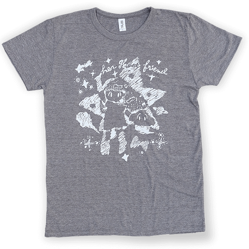 Her Ghost Friend - Cosmo T-shirt (Heather Brown)