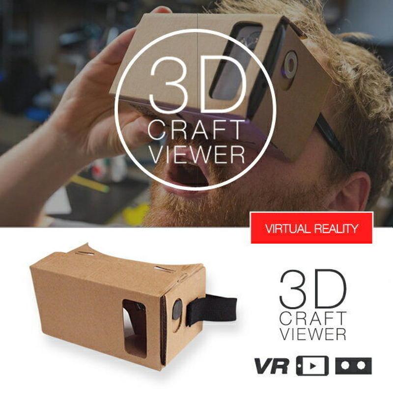 3D VR クラフトビューアー Google Cardboard グーグル・カードボード 360° 動画 Oculus Rift オキュラス リフト アプリ 3D映像 スマホ iphone6 メガネ