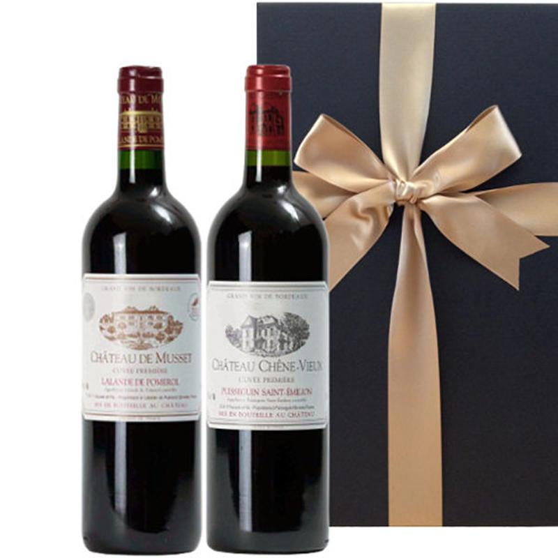 ボルドーワイン2本セット ラランド・ド・ポムロール2008年 ピュイスガン・サンテミリヨン2009年 ギフト