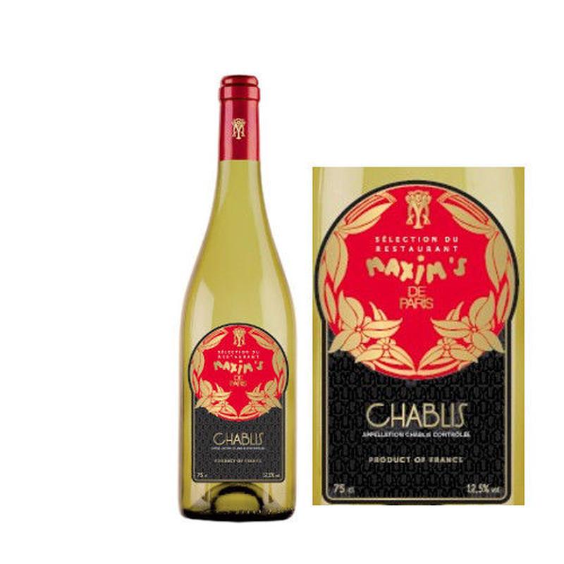 白ワイン 辛口 「マキシム・ド・パリ 」シャブリ 2012年 フランス  ブルゴーニュ 750ml シャルドネ100%