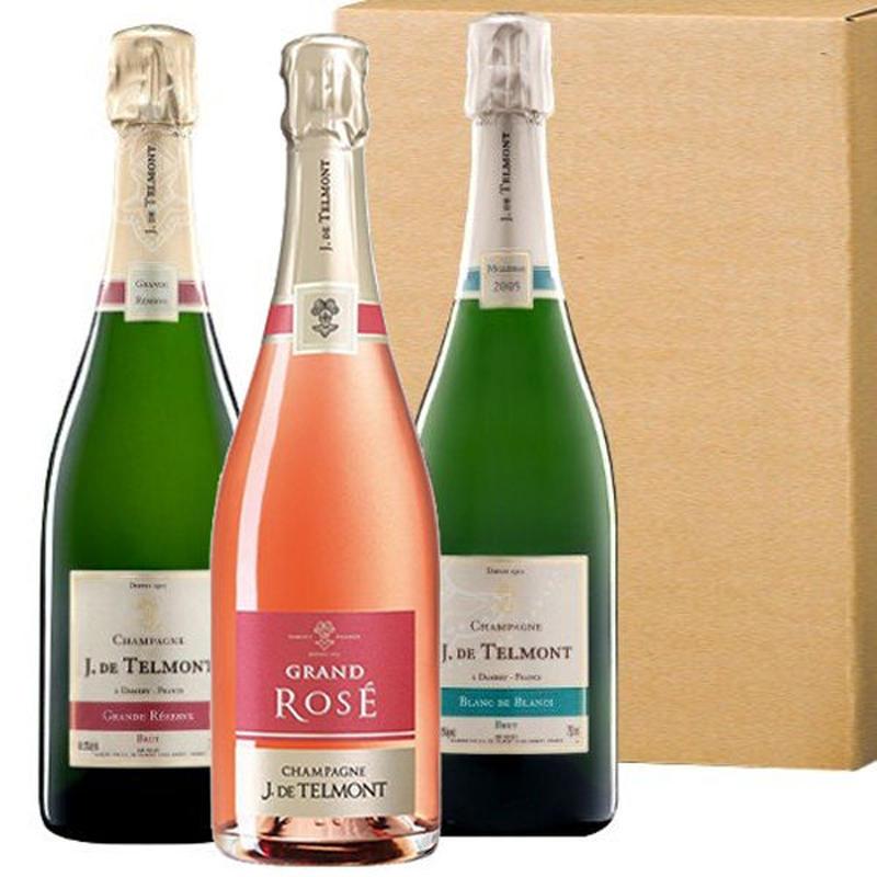高級シャンパンの飲み比べ「グラン・レゼルブ・ブリュット」「グラン・ロゼ・ブリュット」「ブラン・ド・ブラン 2007」