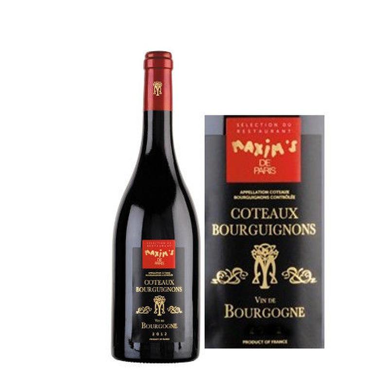 赤ワイン 辛口 「マキシム・ド・パリ 」 コトー ・ブルギ二ヨン 2014年 750ml  フランス  ブルゴーニュ ガメイ100%