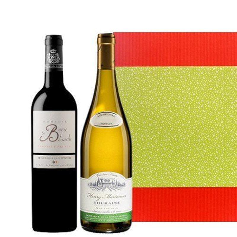 赤白ワイン ギフトセット ロワール地方の白ワイン ラングドック・ルーションの赤ワイン 辛口 ミディアムボディ フルーティーフランス 紅白セット
