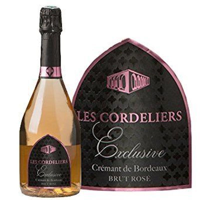 シャンパン方法を使ったエレガントなロゼスパークリング  ボルドー、サン テミリヨン  「レ・コードリエ 」