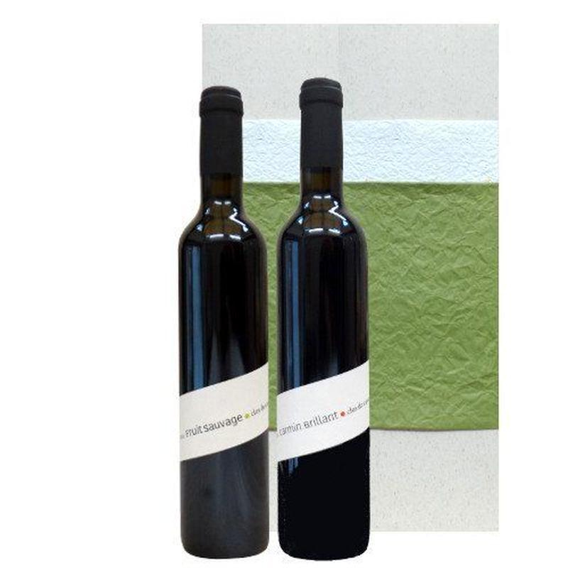 父の日 プレゼント 南フランス、ラングドック・ルーションのオーガニック赤ワイン飲み比べセット(500ml×2本ワインセット)