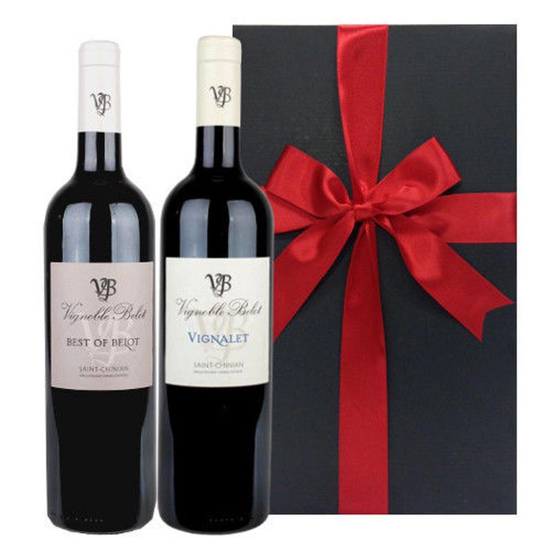 プレゼント ワイン ギフト お酒 金賞受賞ワイン フランス 赤ワイン 飲み比べ 2本セット ラングドック・ルーション AOCサン・シニアン