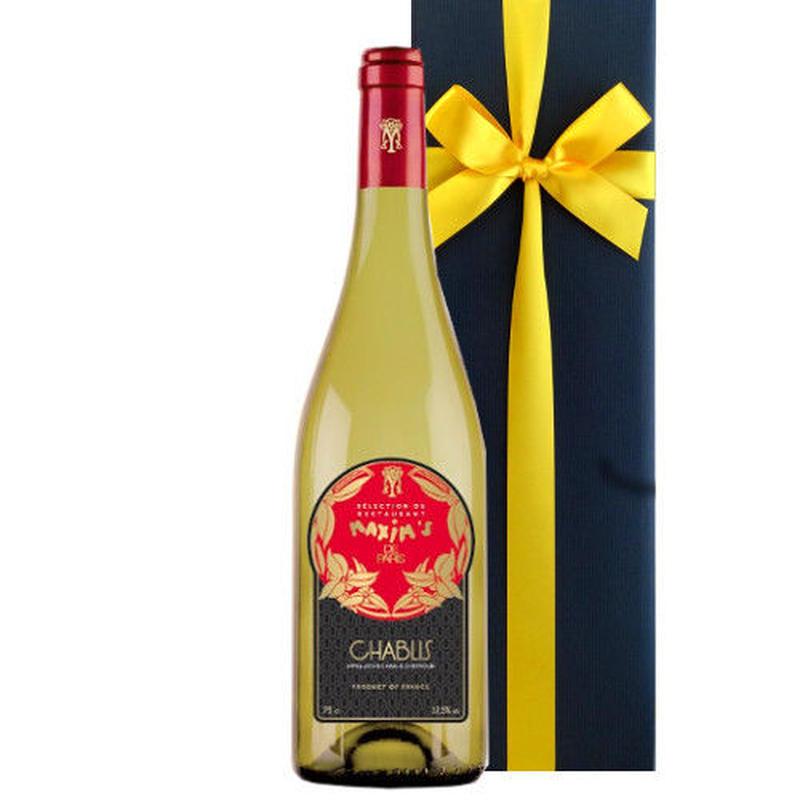 白ワイン シャルドネ ブルゴーニュ 「マキシム ド パリ」シャブリ  辛口 2012年 750ml フランス 高級白ワイン ギフト箱入り ラッピング付