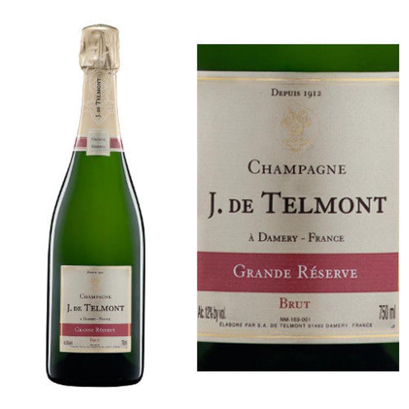 フランス、シャンパン、「グラン・レゼルブ・ブリュット」NV、 ジャック・ド・テルモン、辛口 750ml