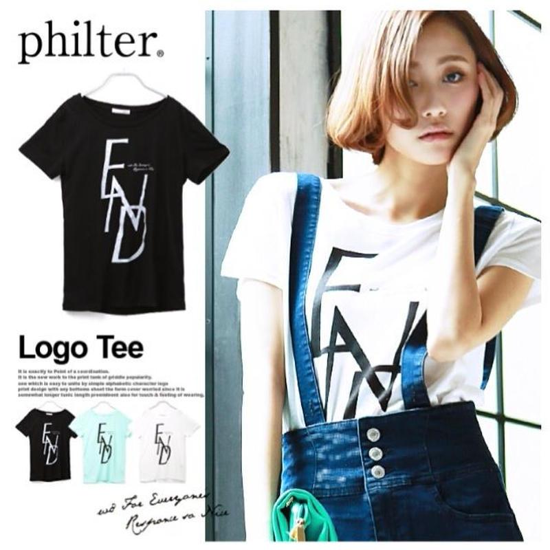 【送料無料】★philter★英字ロゴプリントTシャツ◆