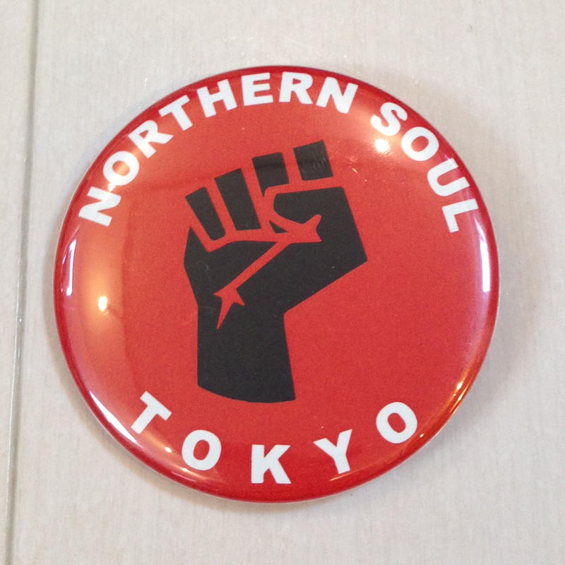 NORTHERN SOUL TOKYO バッジ 白文字