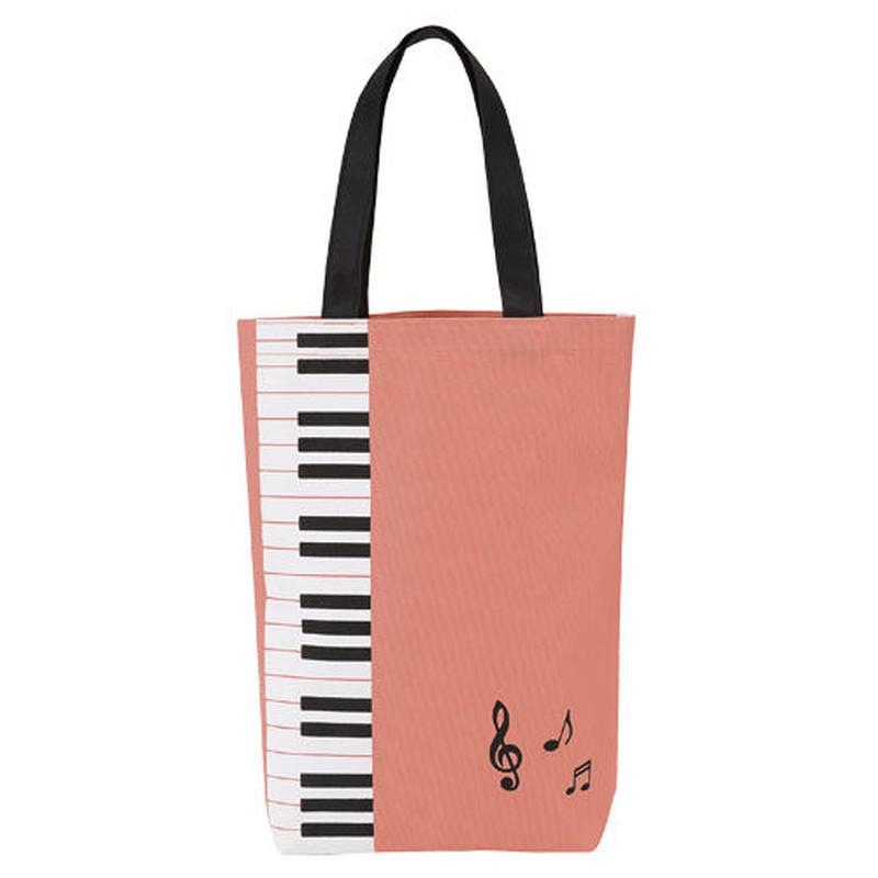 Piano line カラフルトート(鍵盤)ピンク