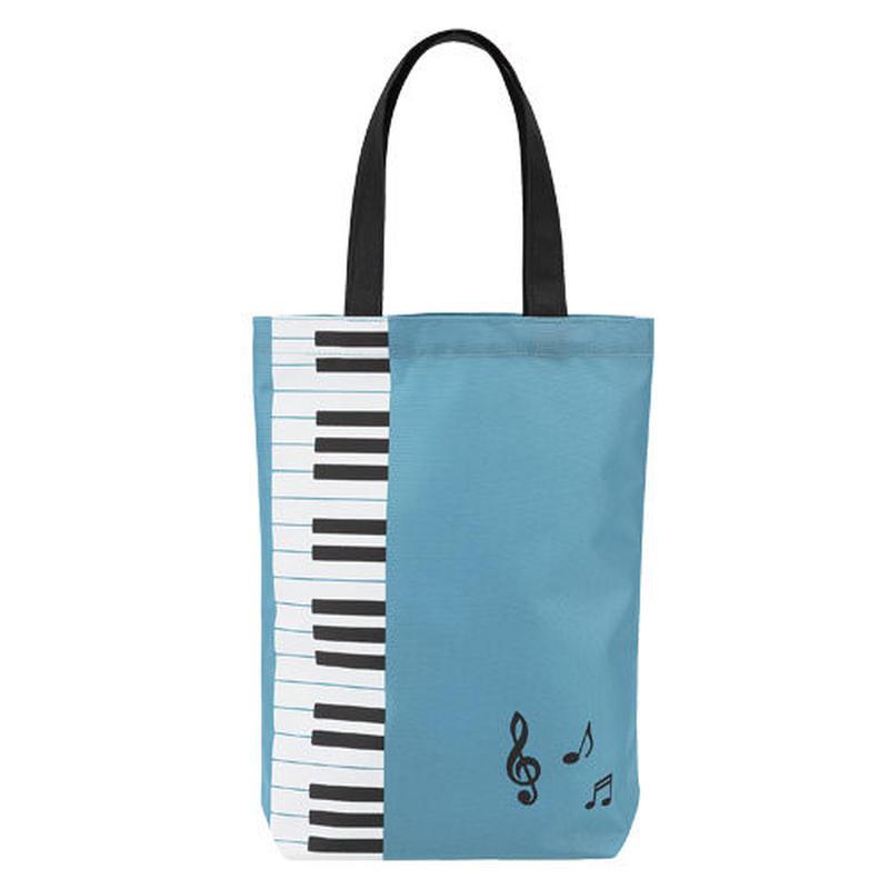 Piano line カラフルトート(鍵盤)ブルー