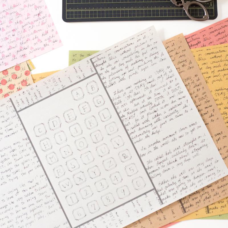 【PDF】手書きの英文&アルファベットと文字のセット【コラージュ素材】