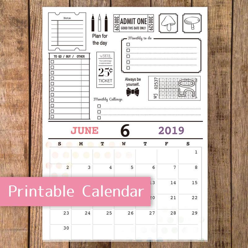 【PDF】2019年6月カレンダー