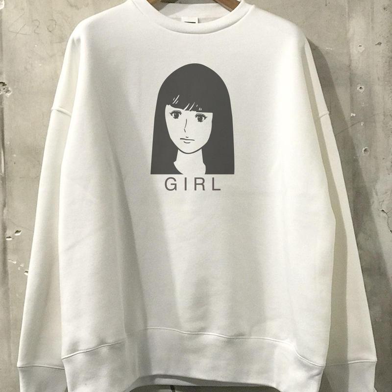 """【予約商品】OPSW06  Big Silhouette sweat  """"GIRL"""""""
