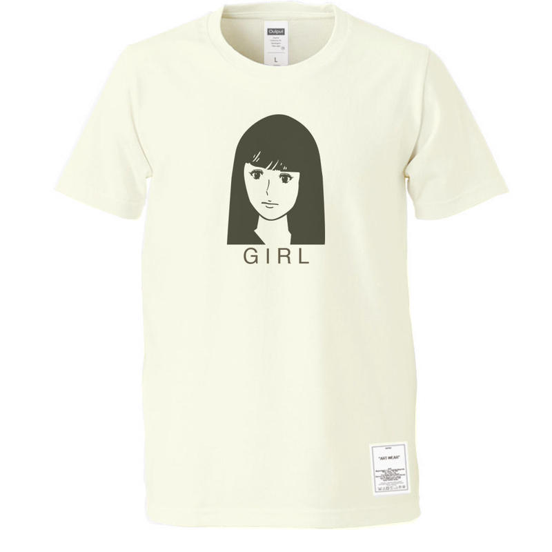 "OUTPUT Originals  OPPT57 ""GIRL"" T-Shirt"