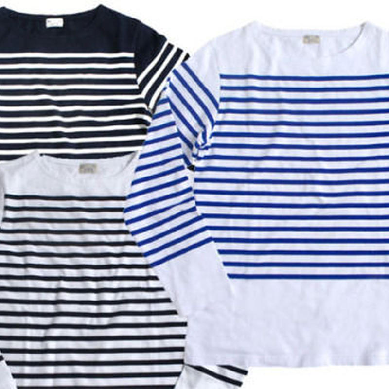 French Navy Stripe Log sleeve T-shirt