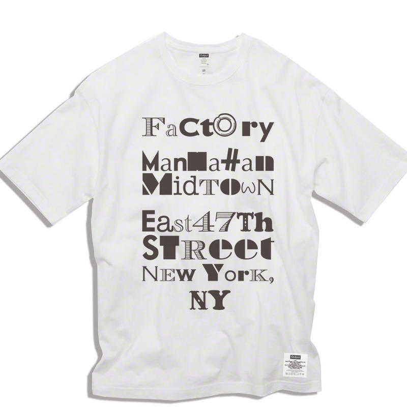 "【予約商品】OPPT67 Big Silhouette Graphic T-Shirt  ""FACTORY"""