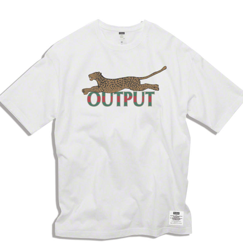 "【予約商品】OPPT65 Big Silhouette Graphic T-Shirt  ""Leopard"""
